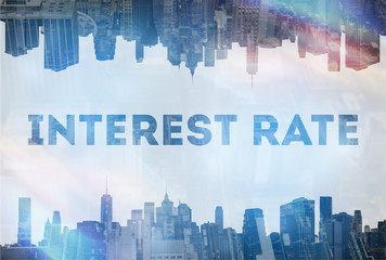 Interest rate concept image
