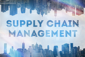 Supply chain management concept image
