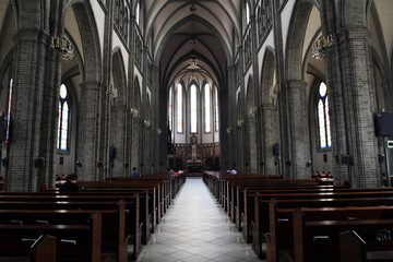 Inside of Myeongdong Catholic Cathedral