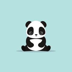 abstract cute panda