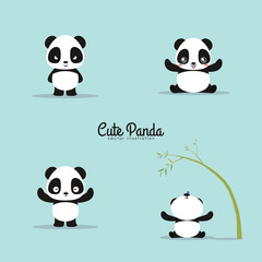 abstract cute pandas