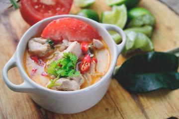 Thai Spicy Chicken Soup, Thai Cuisine, Thai Food, Spicy Soup