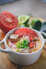 Thai Spicy Chicken Soup, Thai Cuisine, Thai Food, Spicy Soup