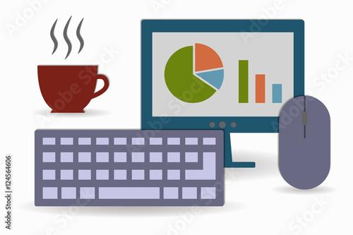 office work fichier vectoriel libre de droits sur la banque d 39 images image 124564606. Black Bedroom Furniture Sets. Home Design Ideas