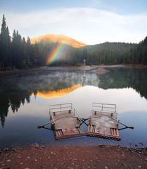 Synevir lake autumn colors