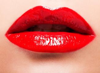 red female lips