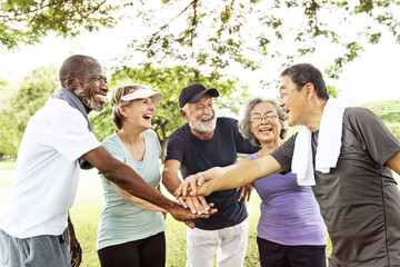Group Of Senior Retirement Exercising Togetherness Concept Wall mural