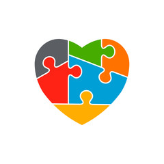 Heart Autism Awareness Logo Design