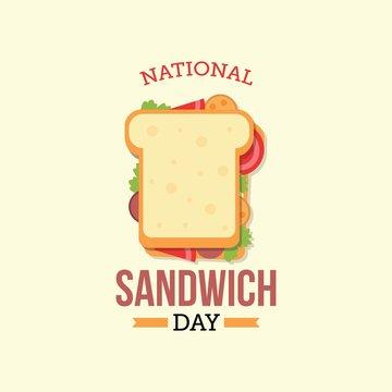 National Sandwich Day. Vector illustration