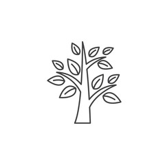 Tree line icon, outline vector logo illustration, linear pictogram isolated on white