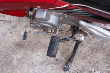 Motorcycle Foot Rest with Gear Control