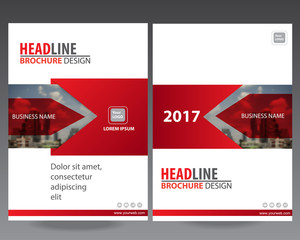 Red Modern elegance annual report brochure flyer design template vector, Leaflet cover presentation abstract flat background,modern poster magazine,modern business background design layout in A4 size
