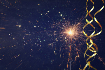Abstract image of sparkler. New year and celebration concept