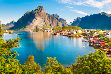 Foto op Aluminium Scandinavië Lofoten islands landscape in Norway