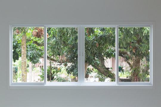 glass window sliding