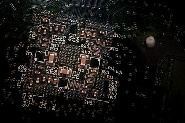 Circuit board background light effect