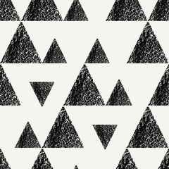 Fototapete - Triangles Seamless Pattern