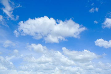 blue sky  and clouds in nature for background