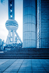 The Oriental Peal Tower In Shanghai,China.