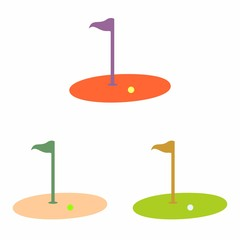 Golf vector logo icon