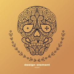 Design element - a decorative skull.
