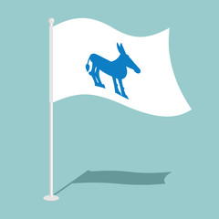 Democrat Donkey Flag. National flag of presidential election in