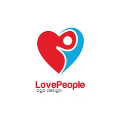 Swoosh People Creative Concept Logo Design Template
