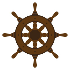 Ship wheel. Graphic on the marine theme.