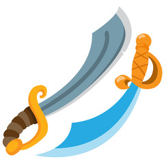 Pirate sword. Cold medieval weapons.