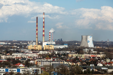 the heat and power generating plant in Cracow, Poland