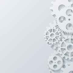 Vector modern mechanism industrial concept. Technology gears background.
