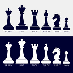 Icons of chess pieces.