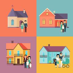 Real Estate Concept Illustrations in Flat Design.