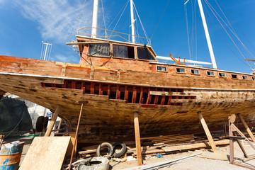 Repair ship in the dock