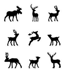 Set of deer