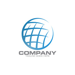 circle globe logo icon