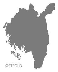 Ostfold Norway Map grey