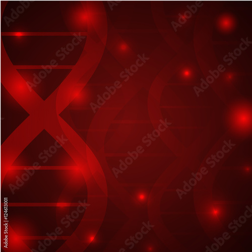 Gene Chain Dna Pattern Medical Wallpapervector IllustrationDNA