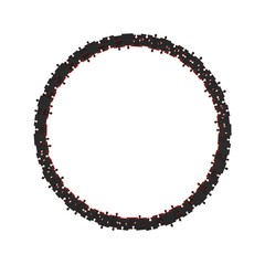 Puzzle frame in form of circle.