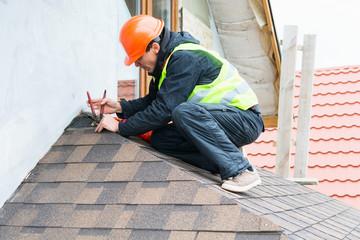 Roofer builder worker