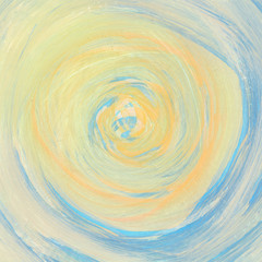 Abstract watercolor hand painted swirl in pale colors