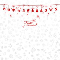 Weihnachtskarte mit Anhängern