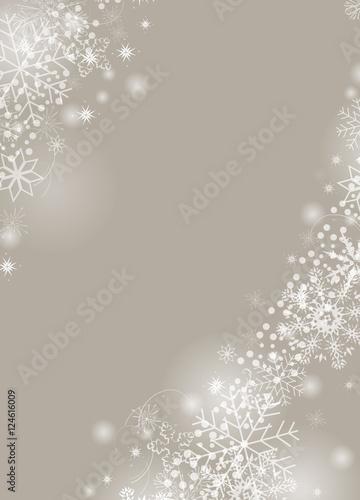 Weihnachtlicher hintergrund mit wei en schneekristallen for Weihnachtlicher hintergrund