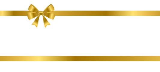 Schleife im Doppel - Gold