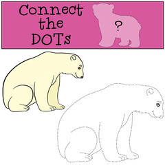Educational game: Connect the dots. Cite polar bear smiles.