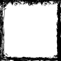 Grunge square vector borders