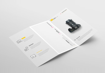 Art and Design Brochure Layout with Photographic Elements