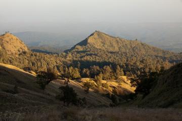 Landscape of Rinjani, Lombok, Indonesia.