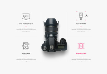 Modern Minimalist Multimedia Website Layout 1