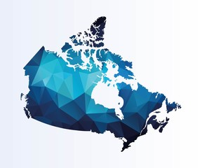 Polygonal map of Canada